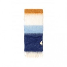 [해외][LOVAT AND GREEN]MULTICOLOR STRIPED SCARF _ CAND Y _ Green/Light blue/Brown
