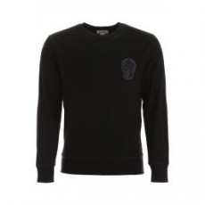 [해외][알렉산더맥퀸]SKULL EMBROIDERY KNIT _ 582936 QNX34 _ Black