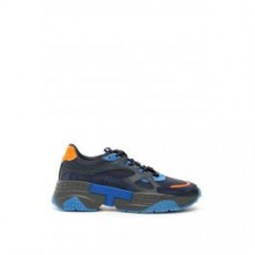 [해외][토즈]ACTIVE SPORTIVO 57B SNEAKERS _ XXM57B0BL40LZI _ Blue/Orange/Light blue