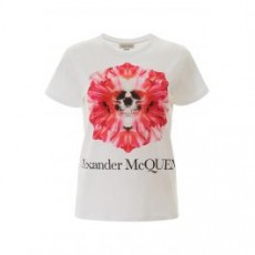 [해외]20SS[알렉산더맥퀸]SKULL FLOWER T-SHIRT _ 610996 QZAA8 _ White