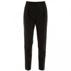 [해외]20SS[생로랑]LAME PINSTRIPE TROUSERS _ 611057 Y1A90 _ Black/Silver