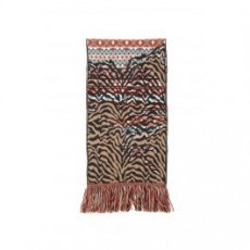 [해외][알라누이]MULTICOLOR SCARF _ LWMA001E19048001 _ Brown/Light blue/Red