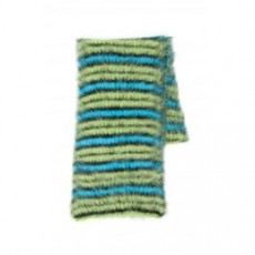 [해외][마르니]STRIPED SCARF _ SCMC0025Q0FU107 _ Green/Light blue/Black