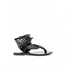 [해외][생로랑]NU PIED DALLAS SANDALS _ 555706 94L10 _ Black/White