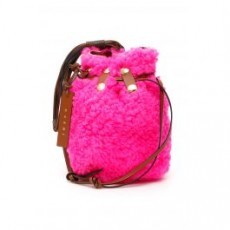 [해외][마르니]SHEARLING BINDLE BAG _ PHMO0005U0LM071 _ Fuchsia/Pink/Brown
