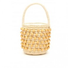 [해외][센시 스튜디오]MINI WICKER BUCKET BAG _ 1250 _ Beige