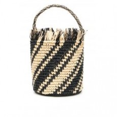 [해외][센시 스튜디오]STRIPED WICKER BAG _ 1248 _ Beige/Black