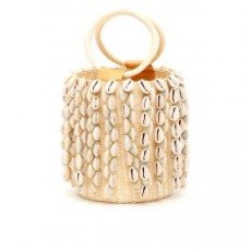 [해외][센시 스튜디오]WICKER MINI BAG WITH COWRIE SHELLS _ 006LOU _ Beige
