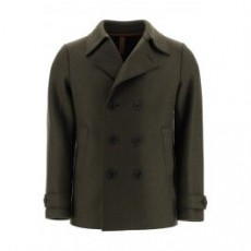 [해외]20FW[해리스워프런던]BOILED WOOL PEA COAT _ C9214MLK Y _ Green