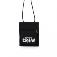 [해외]20FW[발렌시아가]EXPLORER POUCH WITH CREW EMBROIDERY _ 532298 2BK3X _ Black/White