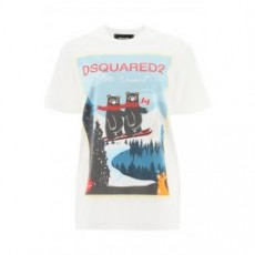 [해외]20FW[디스퀘어드]Dsquared2 _ S75GD0107 S23009 _ White/Light blue/Red