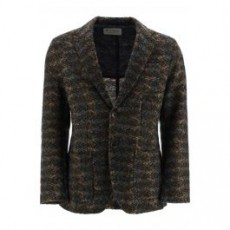 [해외]20FW[에뜨로]JACQUARD KNIT BLAZER _ 1N101 9732 _ Brown/Blue/Green