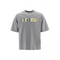 [해외]20FW[겐조]T-SHIRT WITH MULTICOLOUR LOGO _ FA65TS0554SK _ Grey/Yellow/White