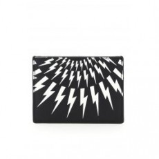 [닐바렛]FAIR-ISLE THUNDERBOLT CARD HOLDER _ BSG197C P9202 _ Black/White