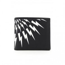 [닐바렛]FAIR-ISLE THUNDERBOLT WALLET _ BSG190C P9202 _ Black/White