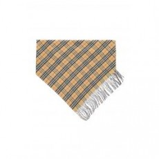 [버버리]VINTAGE CHECK DOUBLE LAYER CASHMERE BANDANA SCARF _ 4068872 _ Beige/Black/Red