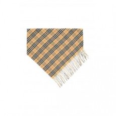 [버버리]VINTAGE CHECK DOUBLE LAYER CASHMERE BANDANA SCARF _ 4068871 _ Beige/Black/Red