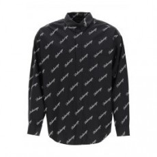 [해외]21SS[발렌시아가]OVERSIZED LOGO PRINT SHIRT _ 647363 TJLY7 _ Black/White