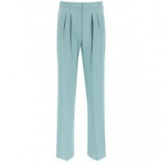 [막스마라]SILK PANTS WITH EMBROIDERED BANDS _ EXTRA _ Green