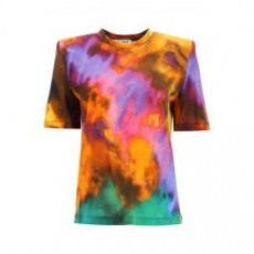[더 아티코]BELLA TIE-DYE T-SHIRT _ 211WCT04P043 _ Purple/Orange/Yellow