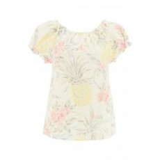 [씨바이끌로에]SPRING FRUITS PRINT TOP _ CHS21SHT32035 _ White/Yellow/Pink