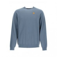[해외]21SS[겐조]COTTON SWEATER TIGER CREST PATCH _ FB55PU5813TB _ Blue/Grey