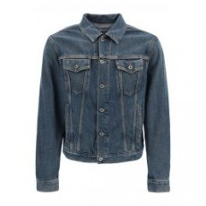 [해외]21SS[오프화이트]DENIM JACKET WITH LOGO _ OMYE054S21DEN004 _ Blue