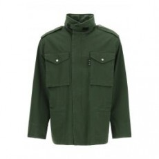 [해외]21SS[오프화이트]COTTON FIELD JACKET _ OMEL020S21FAB001 _ Green