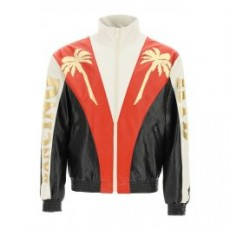 [해외]21SS[셀린느]DANCING KID LEATHER JACKET _ 2E877280D _ White/Red/Black/Gold