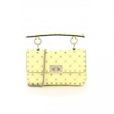 [해외]21SS[발렌티노]SMALL LEATHER ROCKSTUD SPIKE BAG _ VW0B0123NAP _ Yellow