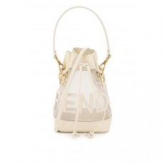 [해외]21SS[펜디]MON TRESOR NET BUCKET BAG FENDI SCRIPT _ 8BS010 AAYS _ White
