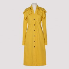 [해외]20SS[보테가베네타]Yellow popeline dress_ 601033VKH50-7101