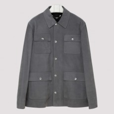 [해외]20SS[벨루티]Gray suede leather shirt_ R17LFL18001-J03