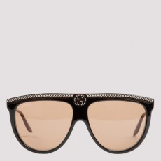[구찌]Aviator acetate sunglasses with crystals_ 623847J0741-1023 TARTARUGA