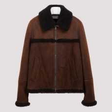 [해외]20FW[프라다]Dark brown shearling jacket_ UPW325.1UV4-F0C95 MORO MORO