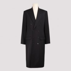 [해외]20FW[발렌시아가]Black double-breasted coat_ 642223.TGT10-1000 BLACK