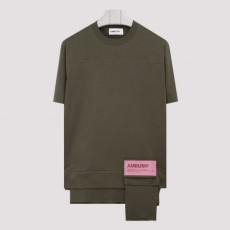 [해외]20FW[앰부쉬]New waist pocket green T-shirt_ BMAA004F20JER001-5900 D.GREEN