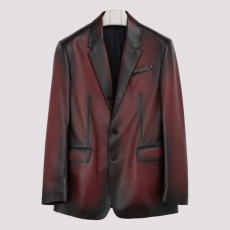 [해외]20FW[벨루티]Grain patina leather jacket_ R18LJL40.KAIP-L28 SIENNA RED
