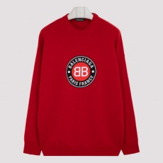 [해외]20FW[발렌시아가]Wool and cashmere logo sweater_ 641781.T4111-6167 RED/BLACK