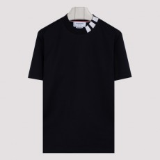 [해외]20FW[톰브라운]Mock neck short sleeve T-shirt_ MJS127A.06928-415 NAVY