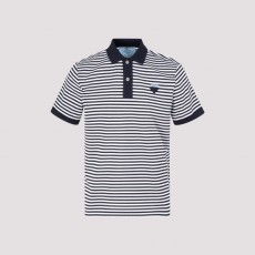 [해외]21SS[프라다]Prada piquet striped polo_ UJN444S181.1YH7-F057L NAVY+ BIA