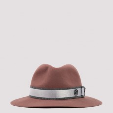 [메종 미쉘]Derek rose felt fedora hat_ 1103008001-CANYON ROSE