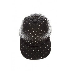 [해외]20SS[발렌티노]Black studs leather hat _  PW2H0A10 NAP0NO