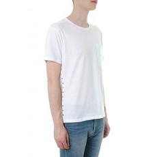 [해외]20SS[발렌티노]Rockstud untitled white cotton t-shirt _  QV3MG04Y 3LE0BO