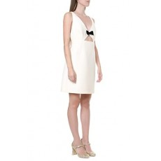 [해외]20SS[미우미우]Crepe & wool ivory short dress _  MF3403 1EVUF0K74