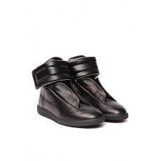 [해외]20SS[MM6 메종마르지엘라]Black high top leather sneaker _  S37WS0496 P2589H7362