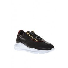 [해외]20SS[GIULIANO GALIANO]Black leather sneakers _  DESTIBY LEATHER PYTHONBLACK RED