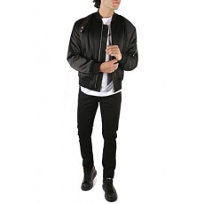 [알렉산더맥퀸]Black nylon boxy bomber jacket _  615628 QPR321000