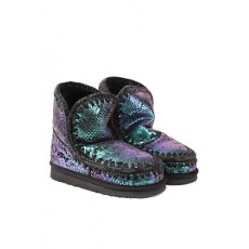 [MOU]Black eskimo 18 boots in iridescent pythoned leather _  MU.FW101001C ESKIMO 18IRLFAN