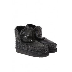 [MOU]Black eskimo 18 boots in pythoned leather _  MU.FW101001C ESKIMO 18IRLBK